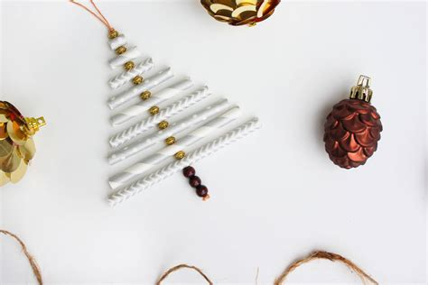 how to make paper ornaments for tree diy ornament tutorial using paper straws