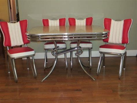 deco kitchen table style ready to use 1950 s deco chrome formica
