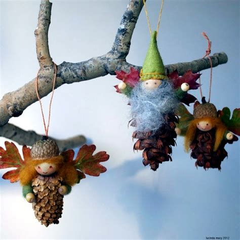 decorations made tree decorations made from materials