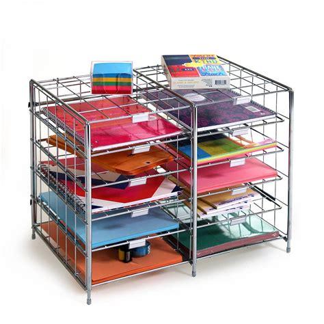 organize wires desk seville classics 10 slot compartment steel