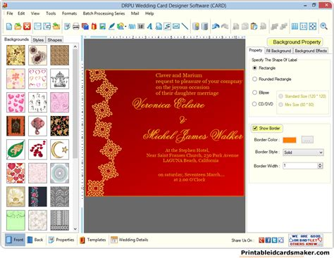 software for cards and invitations wedding cards maker software designs colorful marriage