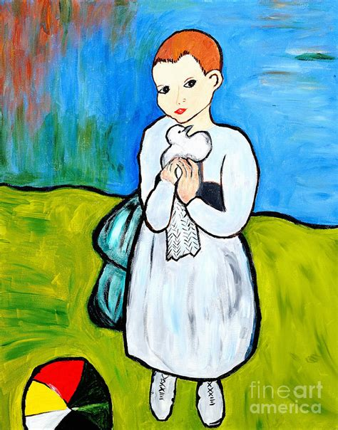 picasso paintings as a child child with a dove painting by by danielle