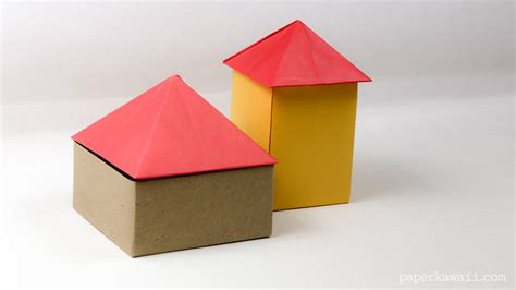 what was origami used for origami square pyramid house lid paper kawaii