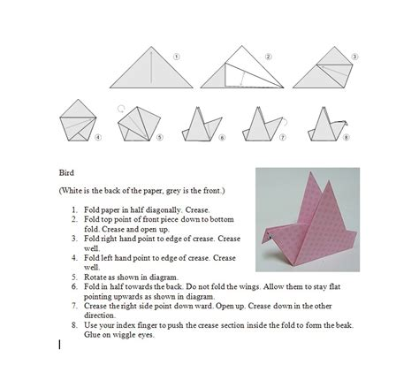 make origami bird a baloo crew june 2014