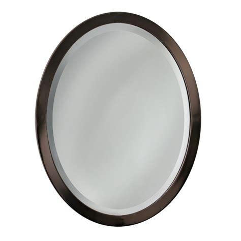bronze mirror bathroom shop allen roth 29 in h x 23 in w rubbed bronze oval