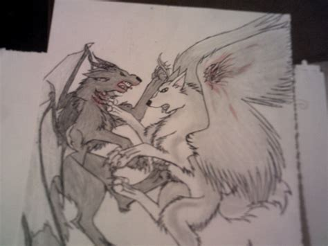 good vs evil by wind blown wolf on deviantart