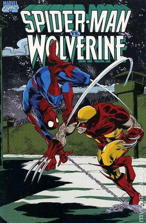 comics vs spider vs wolverine gn 1990 marvel 2nd edition