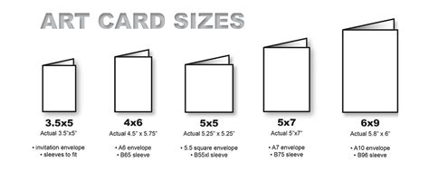 card sizes for card standard greeting card size wblqual