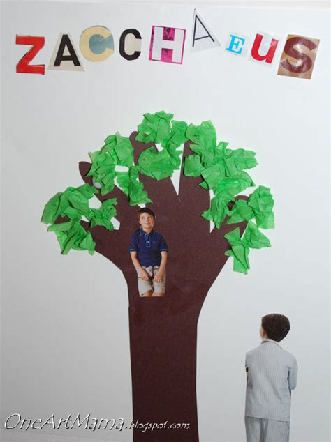 zacchaeus crafts for come on one artsy
