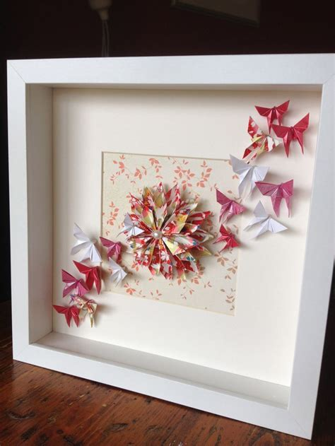 origami eyeglasses origami dahlia and butterflies in a frame order via www