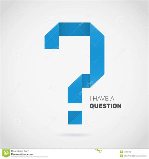 origami question point d interrogation d origami de vecteur illustration de