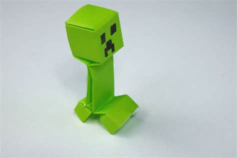 how to make a origami creeper minecraft origami comot