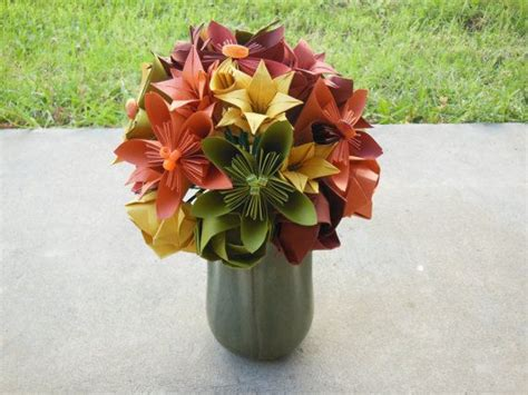 origami flower arrangements fall origami flower arrangement