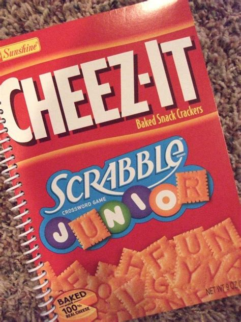 Scrabble Junior Cheez It Journal Book Notebook Upcycled