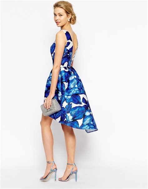 chi chi chi chi high low prom dress in large blue