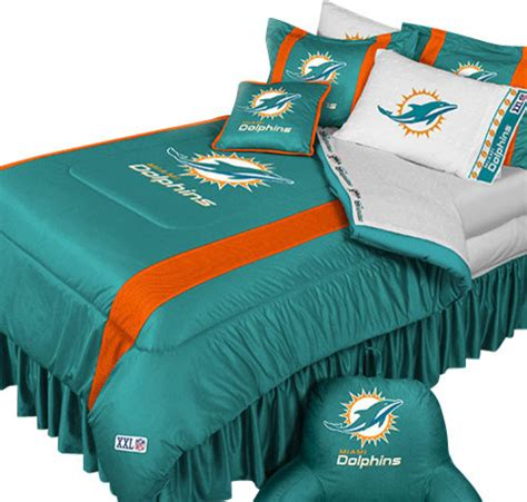 nfl miami dolphins football bed comforter set
