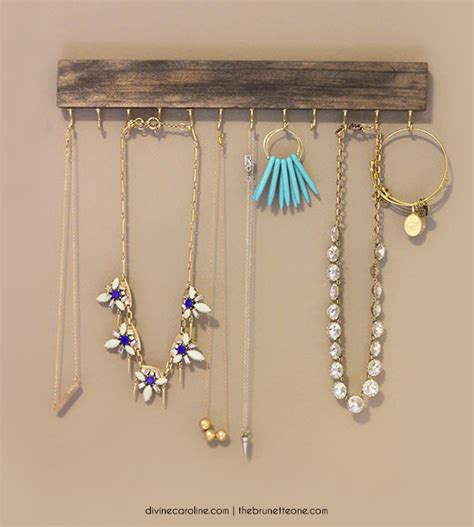own jewelry make your own wall mounted jewelry holder more