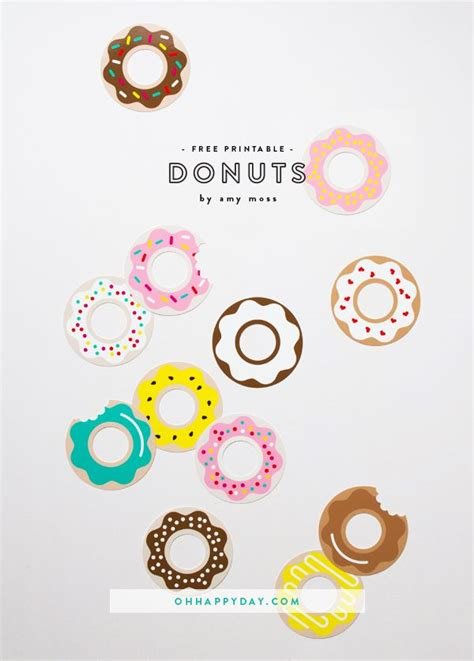 donut printables oh day bloglovin