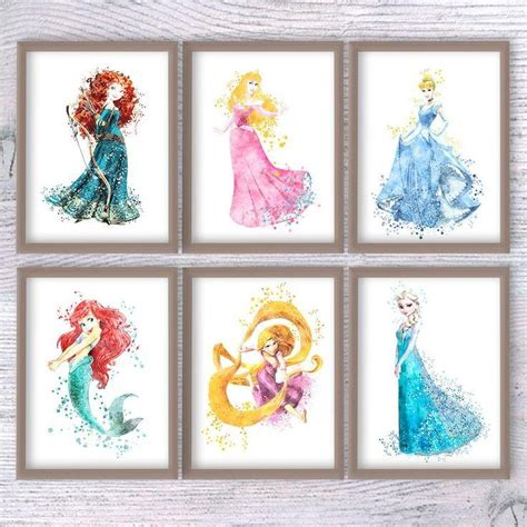 20 inspirations disney princess framed wall wall