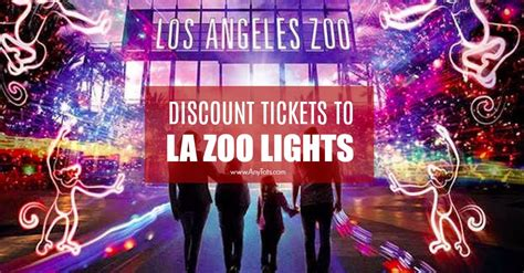houston zoo lights discount code los angeles zoo discount tickets la zoo lights 9 any tots