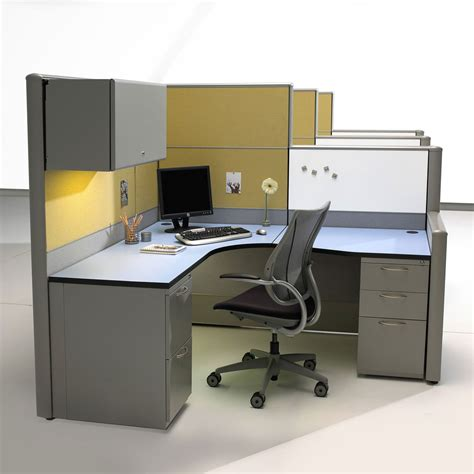 office desk cubicle office furniture design with clean lines and minimalism
