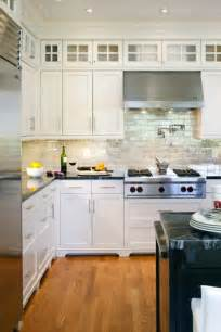 kitchen backsplash white cabinets iridescent backsplash transitional kitchen benjamin