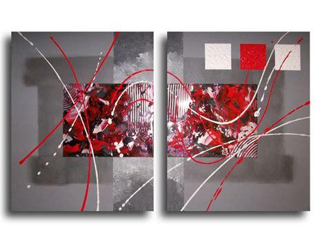 peintures acryliques tableau noir argent contemporain moderne est une cr 233 ation orginale