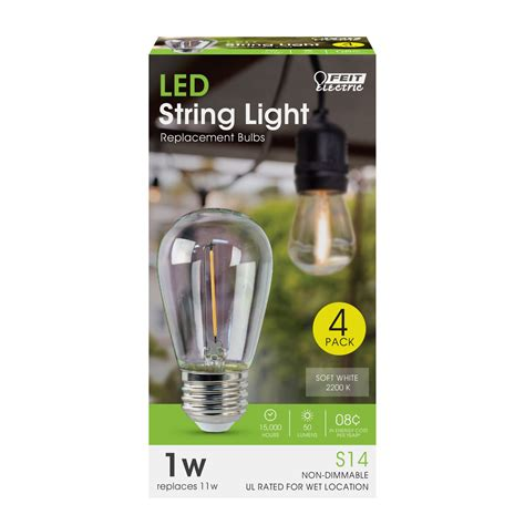 led string light bulbs led string light replacement bulbs feit electric