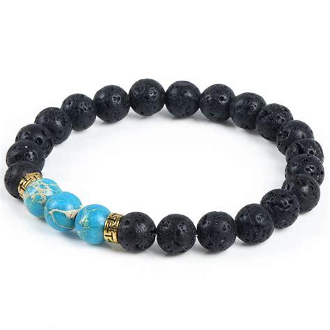 bracelet with turquoise lava diffuser bracelet the mandala