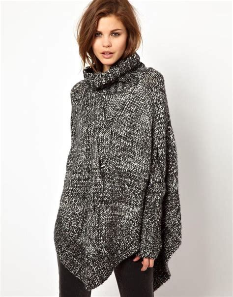 knitted ponchos poncho knitting