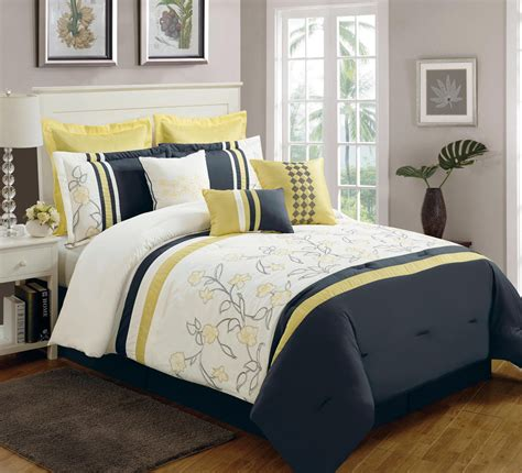 yellow king comforter sets vikingwaterford page 2 gray white and beige cotton