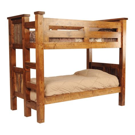 bunk bed wood wasatch reclaimed wood riverwood bunk bed
