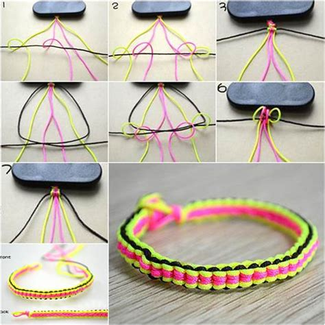 how to make string jewelry how to make diy 6 string braided friendship bracelet