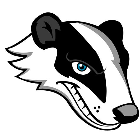 badger mascot head clipart fort