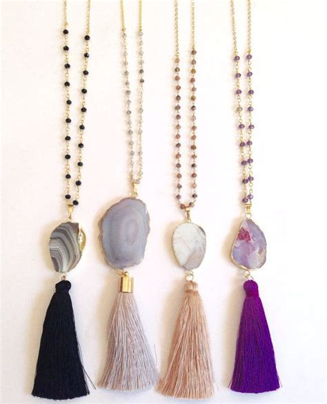 tassels for jewelry 25 best ideas about tassel necklace on diy