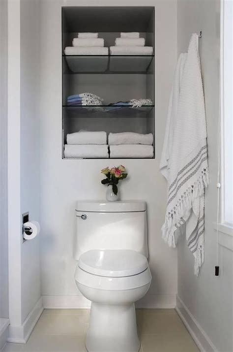 recessed shelves in bathroom 17 best ideas about shelves toilet on