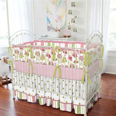 girly crib bedding girly owl crib bedding traditional atlanta by