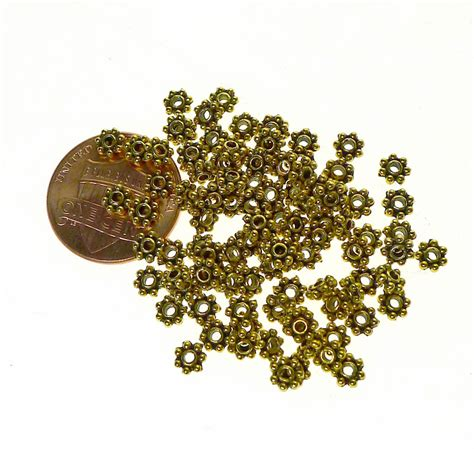 spacers for jewelry 4mm spacers antiqued gold jewelry spacer