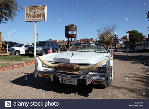 Cadillac Fort Worth by Cadillac Fort Worth Stockyards Stock Photo