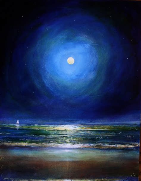 acrylic painting moonlight toni grote spiritual jewelry from my to yours