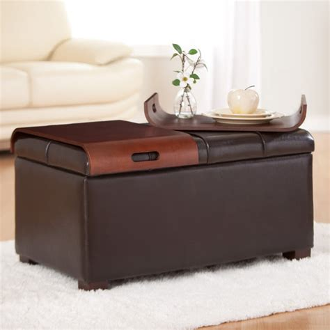 storage ottoman coffee table with trays coffee table storage ottoman with tray 28 images