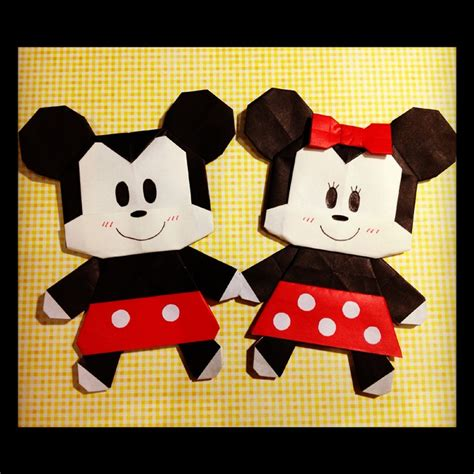 origami mouse diagram origami mickey minnie origami papercraft