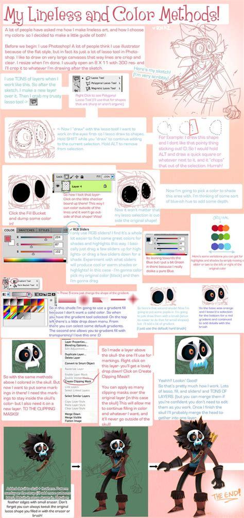 lineless tutorial paint tool sai lineless and coloring tutorial by magicbunnyart on deviantart