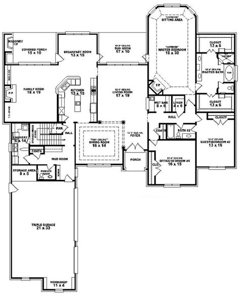and bathroom house plans 654275 3 bedroom 3 5 bath house plan house plans