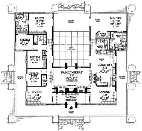 prairie style floor plans classic prairie style house plan 81313w 1st floor master suite cad available courtyard
