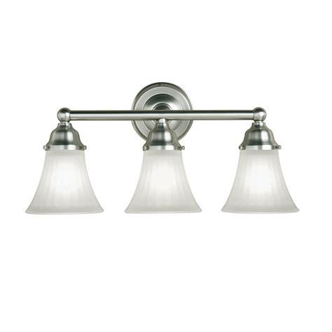 lowes bathroom lighting brushed nickel shop portfolio 3 light vassar brushed nickel bathroom