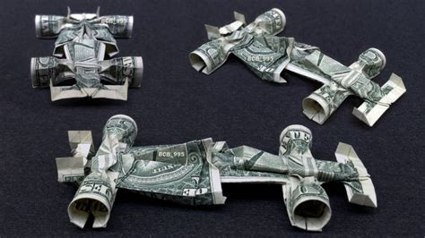 origami money car formula 1 race car money origami vehicle made of real