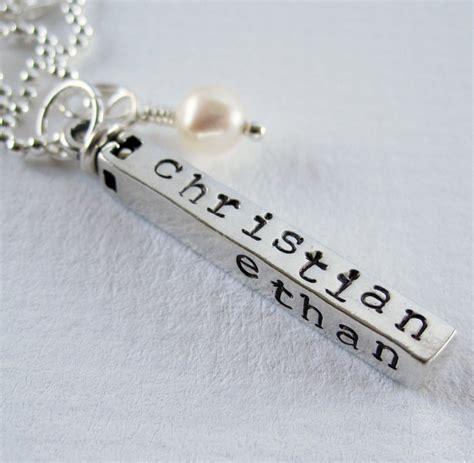 how to make personalized jewelry swivel bar personalized necklace sterling silver