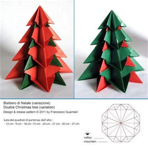 modular origami tree origami bialbero di natale variante