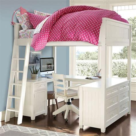 pottery barn loft bed with desk beadboard loft bed pbteen